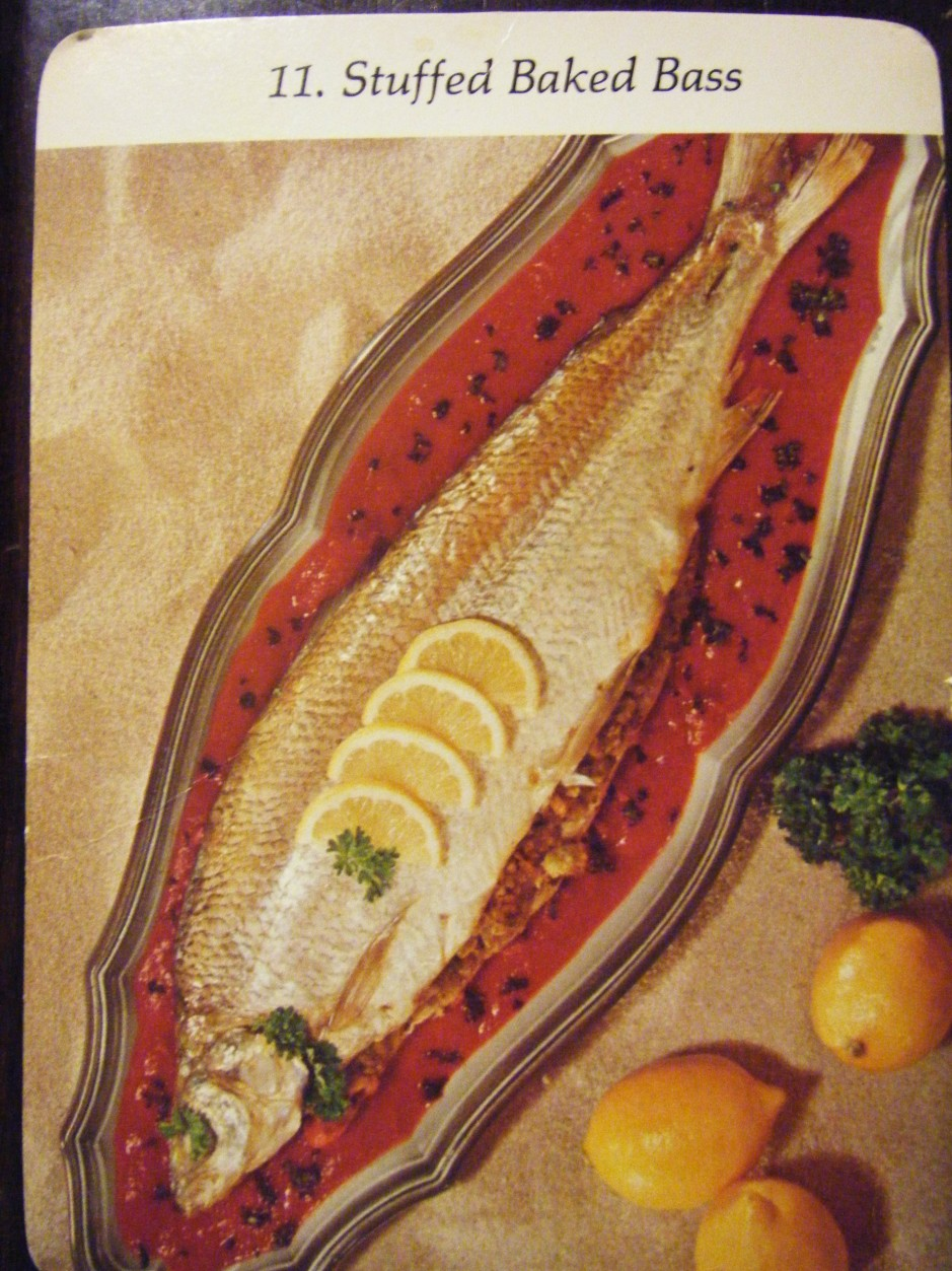 stuffed baked bass