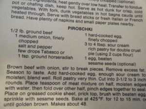 PIroschki Recipe