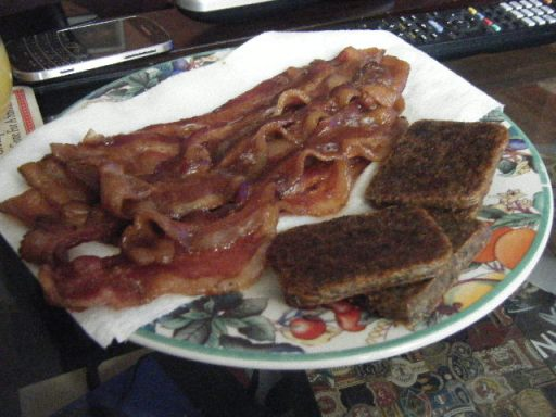 bacon and scrapple