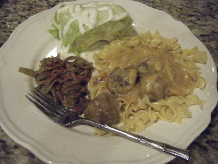 meatball stroganoff dinner
