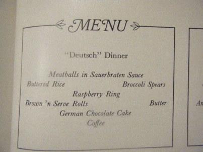 Detusch Dinner
