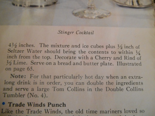 Tom Collins Recipe--Stouffer's 2