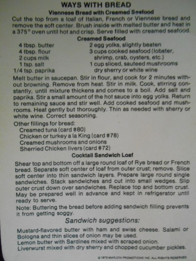 Creamed Seafood Recipe