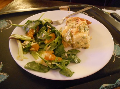 Green Bean Pie & Salad
