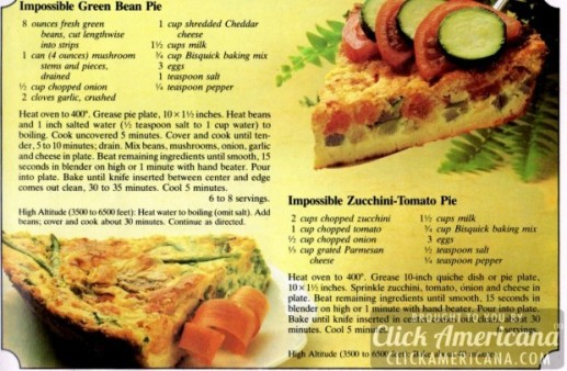 Impossible Green Bean Pie Recipe