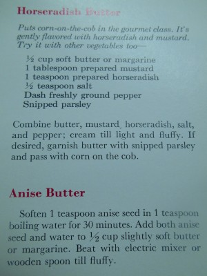 horseradish and anise butter recipes