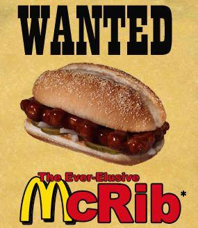Wanted: McRib