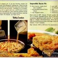 Bisquick Impossible Bacon Pie