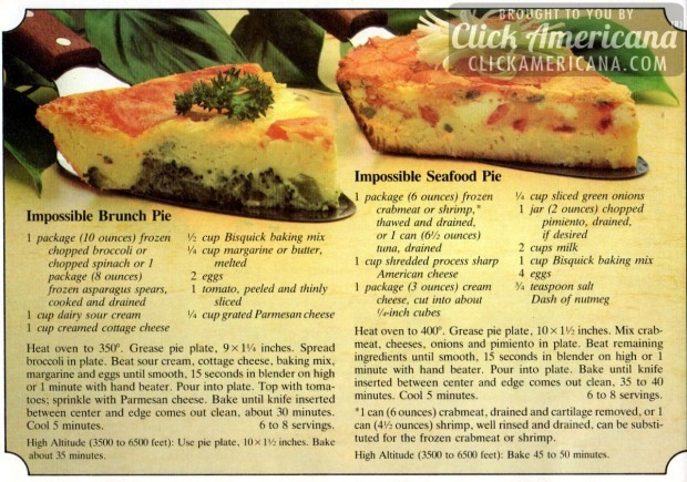 impossible seafood pie recipe