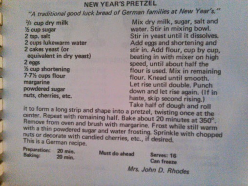 new year's pretzel recipe