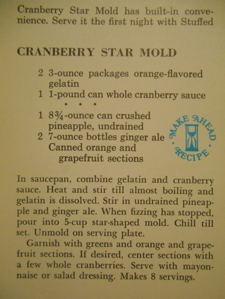 Cranberry Star Mold Recipe
