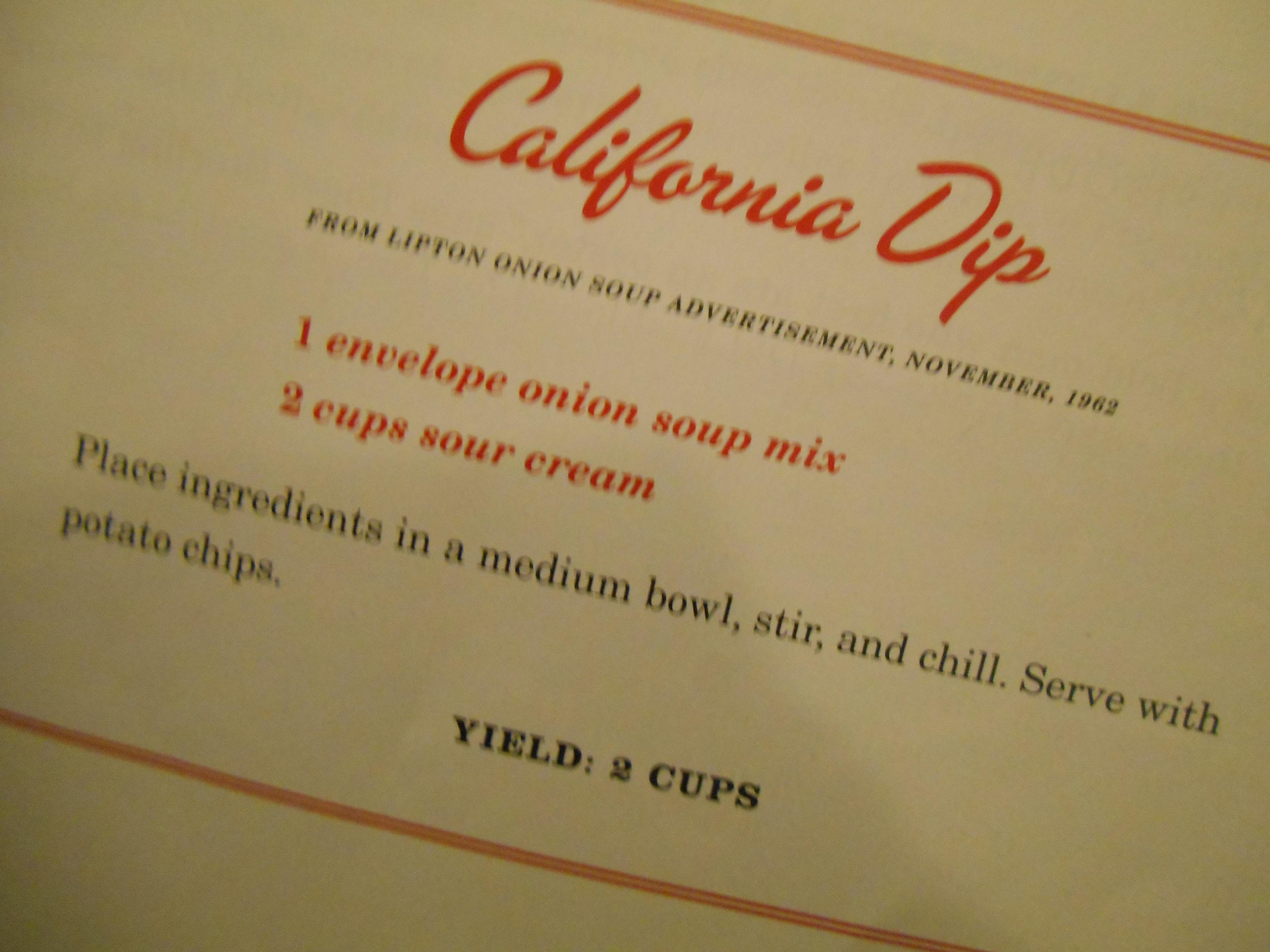 California Dip Recipe