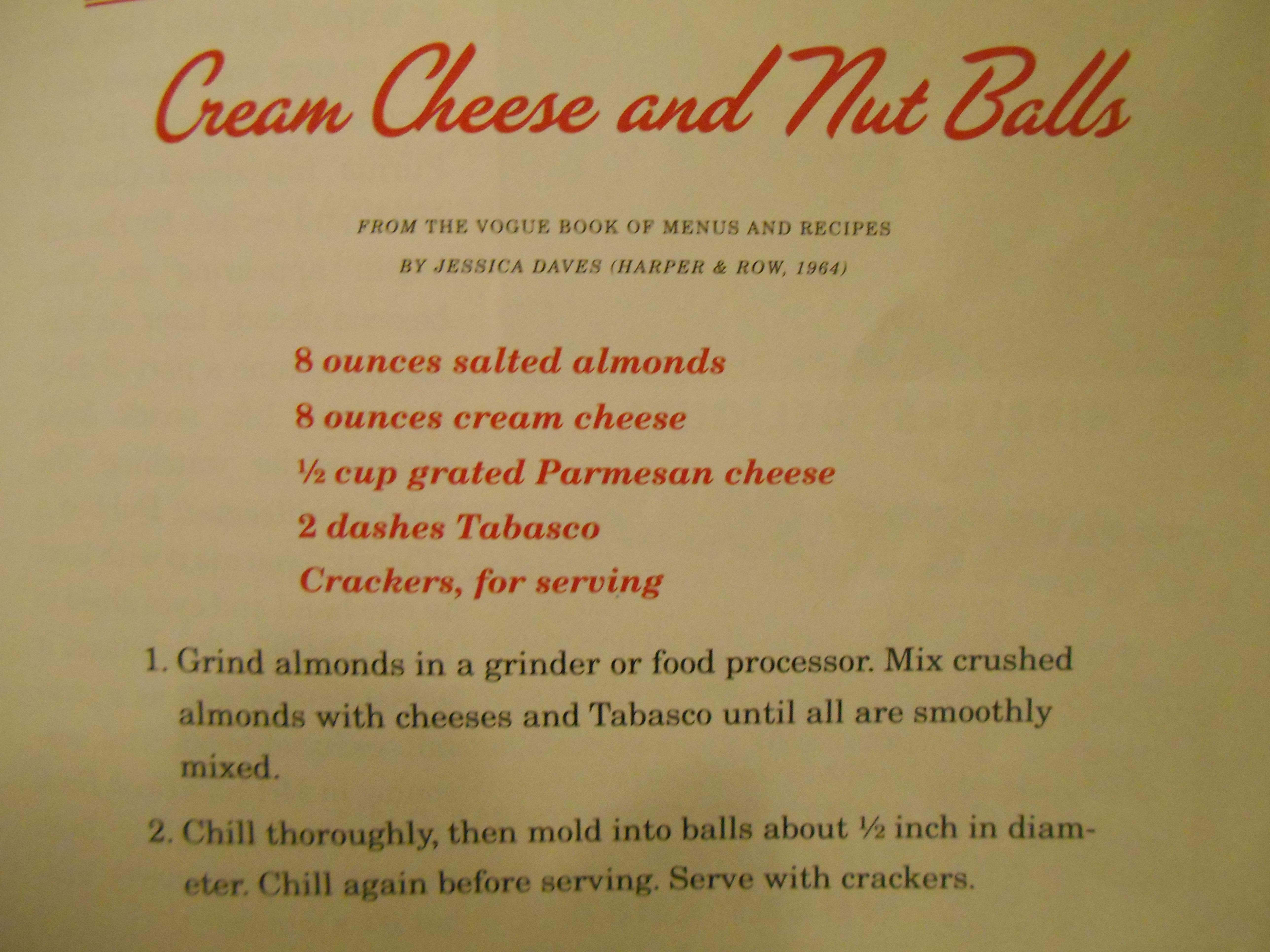 Cream Cheese and Nut Balls