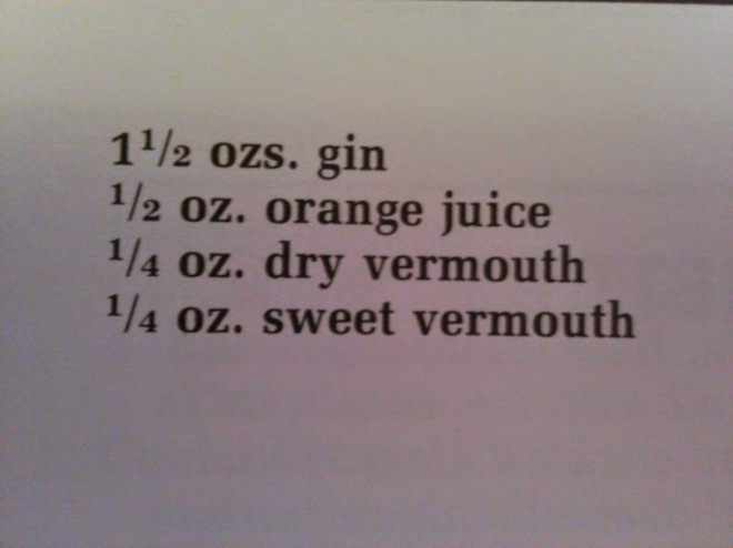 bronx recipe ingredients