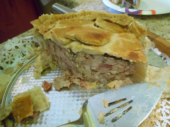 inside of pork pie