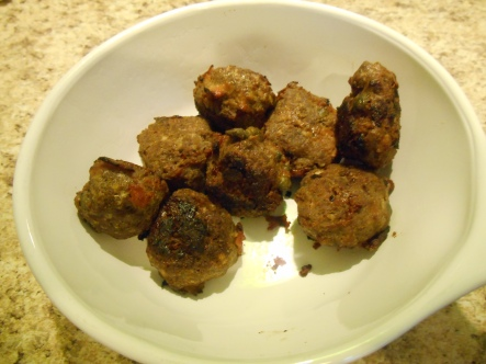 cooked cannibal meatballs