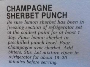 champagne sherbet