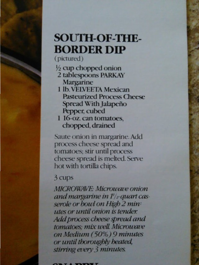 south of the border dip recipe