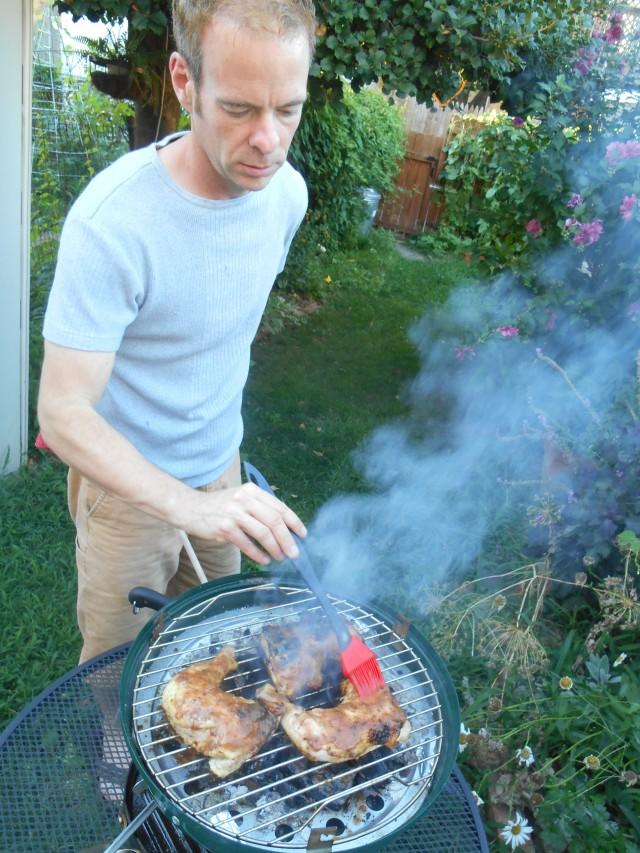 rick at the grill