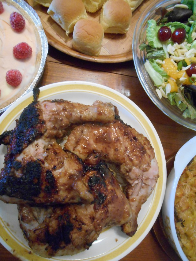 Barbecued Chicken with Plum Baste