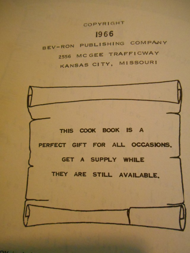 1966 cook book