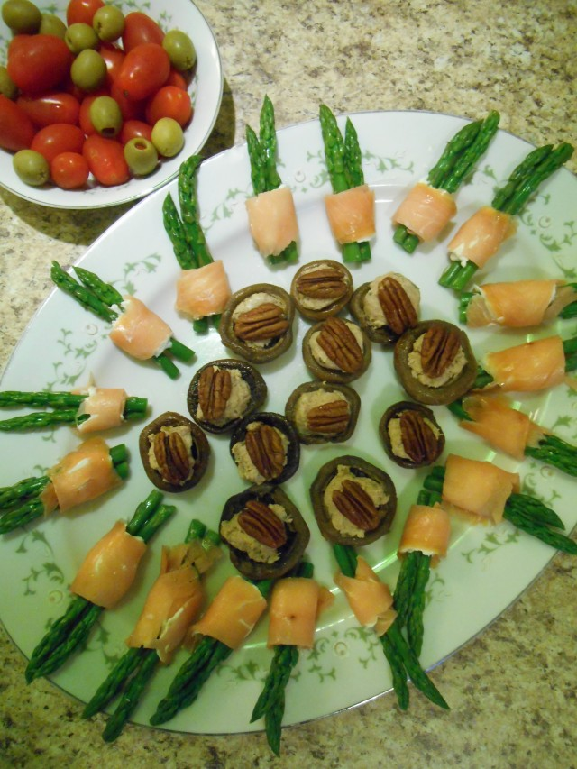 olives tomatoes asparagus rolls