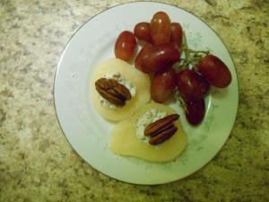 pear cheese grape
