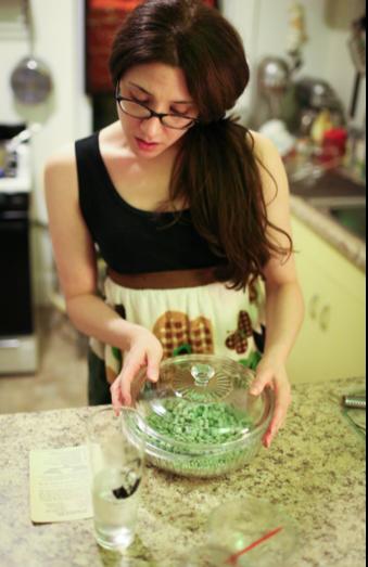 making peas