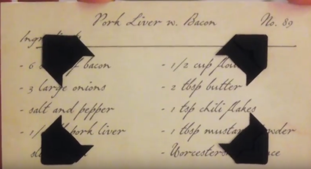 Hannibal Lecter's recipe for Liver